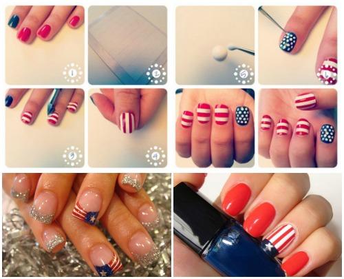 Маникюр «американский флаг»