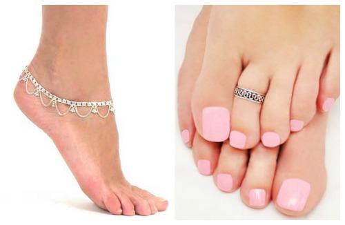 Украшение ног – интересное дополнение к дизайну ногтей