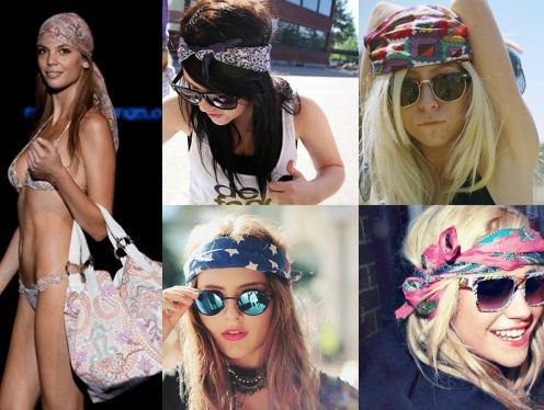 Как носить бандану на голове?