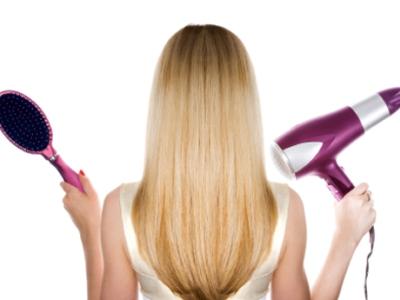 Фен и расческа для выпрямления волос