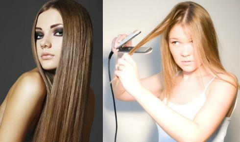 Выпрямление волос утюжком: советы